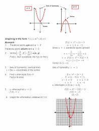 graphs of quadratic functions worksheet the best worksheets image collection and share worksheets