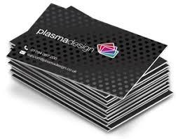 Matt Laminated Uv Spot Foiled Business Cards Plasmadesign