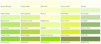 Green Paint Color Chart Pear Green This Color Of Green Is Meant To Calm Down The