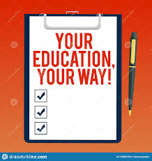 Handwriting Text Writing Your Education Your Way Concept