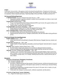 Census Clerk Sample Resume Simple Career Services Sample Resumes For Graduate Students And Postdocs