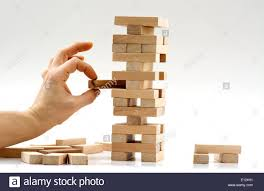 Game With Wooden Blocks Wooden blocks game balance Stock Photo 100 Alamy 40