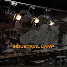 arts lamp track light retro space modern minimalist american country industrial personalized clothing spotlights ceiling lighting led showcase led