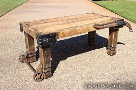 horse hame and caster barn wood coffee table living room ideas repurposing upcycling barn wood ideas barn