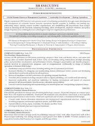 10 Sample Human Resources Resume Letmenatalya