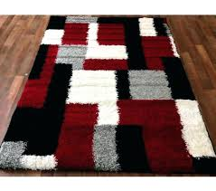 red white black rug red and black area rugs amazing hand made soft touch home red white black rug