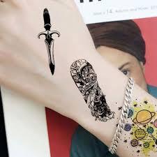 Hodinky A Vzestupy Dočasné Tetování Vodotěsné Samolepky Falešné Plné Tetování Rameno A Rameno Tetování Pro Muže Body Art Tatoo Mangas At Vova