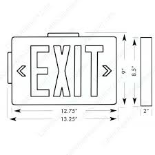 cast aluminum led exit signs cableorganizer com dimensions for aluminum exit signs icon