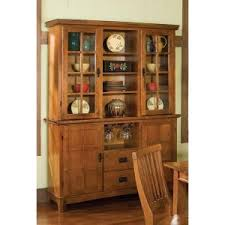 Home Styles Arts & Crafts China Cabinet - Cottage Oak