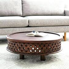 round carved wood coffee table carved wood coffee table carved wooden round coffee table carved wood