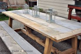 restoration hardware inspired table and bench set 5 4