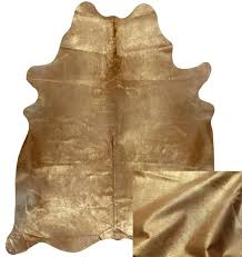gold cowhide