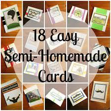 Homemade Card Templates Diy 18 Semi Homemade Cards Step By Step Tutorial