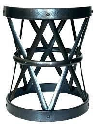 metal round accent table black target patio threshold folding