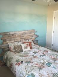 Ombré Ocean Wall, Pallet Headboard For A Beach Themed Room