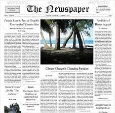 12 Newspaper Front Page Templates Free Sample Example