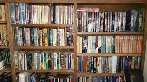 american author f paul wilson uploaded an impressive mutli shelf shelfie through