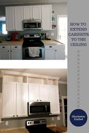 how to extend kitchen cabinets the ceiling extending existing