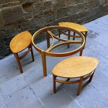 round glass nesting coffee table vintage mementosbcn 5