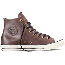 converse men 39 s chuck taylor all star vintage leather shoes cabin brown