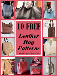 Design Your Own Leather Handbag Online 10 Free Leather Bag Patterns Love To Sew