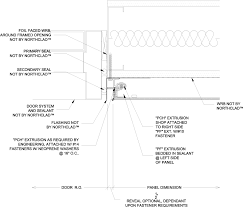 door jamb detail plan. Beautiful Detail Right Door Jamb Flashing At NorthClad ACM On Door Jamb Detail Plan