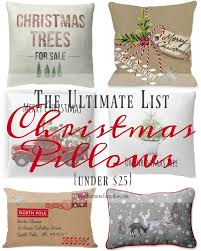 christmas pillows on sale. Brilliant Pillows The Ultimate List Of Farmhouse Christmas Pillows Under 25  Worthing Court With On Sale Y