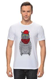 Футболка <b>классическая Cat</b> Hipster #632784 от sashadasha по ...