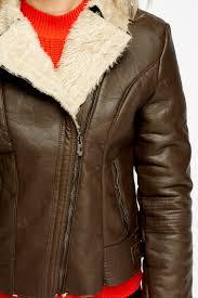 faux leather fur trim jacket 1
