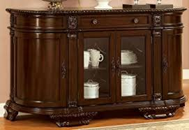 furniture buffet. furniture of america cm3319sv bellagio brown cherry server dining room buffet