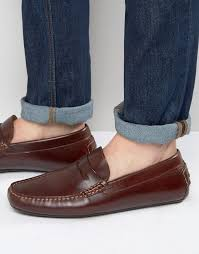 aldo gwiralian leather penny loafer driver shoes