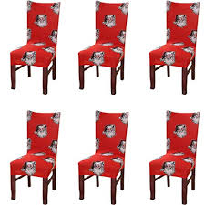 chair cover snowmen chair protector for dining chairs seat slipcover for party decoration