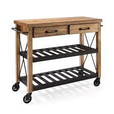 Furniture For The Kitchen Roots Rack Natural Industrial Kitchen Cart Crosley Furniture