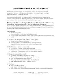 critical essay outline template critical essay outline