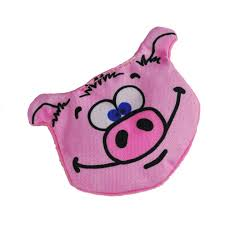 dog toy pokey pig crinkle cordura dog toy no squeaker