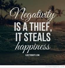 Negativity Quotes Awesome Negativity Is A Thief It Steals Happiness Happiness Negativity