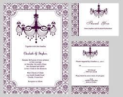 30 best cool wedding invites images on pinterest invitation Printable Wedding Invitation Kits Purple wedding invitations vintage chandelier wedding invitation kit printable invitation kits Printable Wedding Invitation Templates Blank