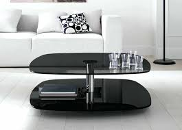 black coffee table and end tables set wood modern with drawers
