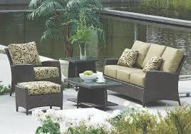 Green outdoor patio furniture cushions