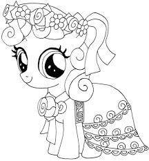 Disegno Di My Little Pony Sweetie Belle Da Colorare Disegni Da