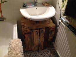 bathroom cabinet from pallets completion bathroom furniture pallets