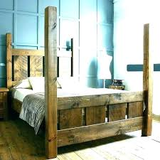 Canopy Bed Posts Image Of Rustic Frame Original Buy Unique ...