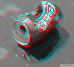Anaglyph Can Of Coca me 3d cola → Crushed Convertimage Sqvw1xCTd