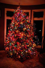 Colored Christmas Tree Lights  Happy Holidays! within Colored Lights  Christmas Tree Decorating Ideas