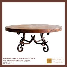 Iron Coffee Table Base Coffee Round Table Iron Base Chocolate Finish Copper Natural