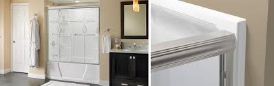 traditional style sliding bathtub door installation