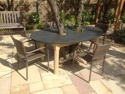 outdoor table top in slate