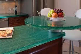 thinkglass 1 1 2 aqua countertop w breakfast island
