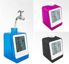 water powered calendar clock no battery needed digital alarm clock wit