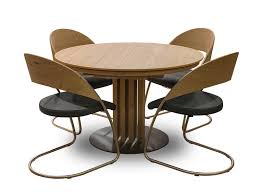 venjakob round dining table and chairs